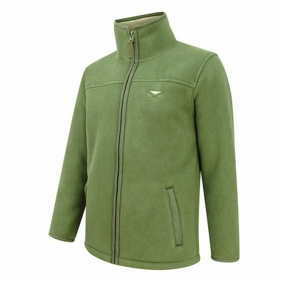 Hoggs Of Fife Clydesdale Heavy Fleece Jacket - Kaki (Green)