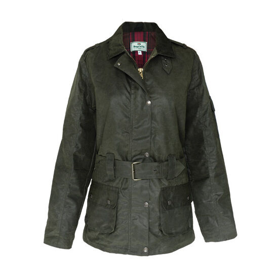 Hoggs Of Fife Cheltenham Ladies Belted Waxed Jacket