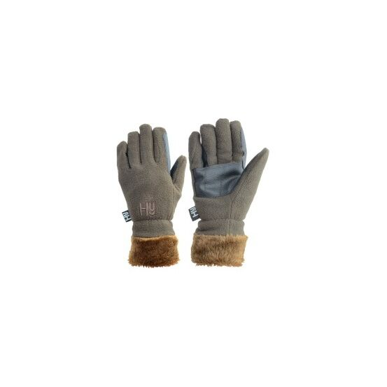 Hy5 Fur Lined Fleece Riding Gloves