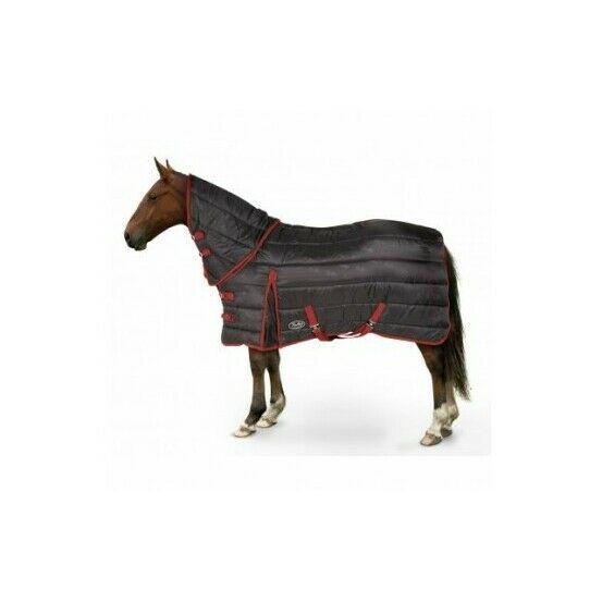 Maverick Heavy 300d Combo Stable Horse Rug - Black/Red