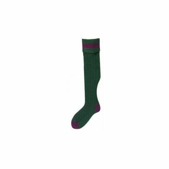 Bisley No.11 Country Stocking Socks - Bottle/Vine