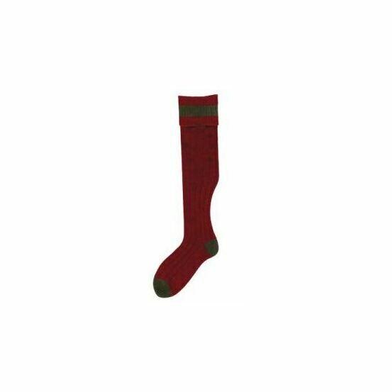 No.17 Stockings Cassat/Olive Socks by Bisley