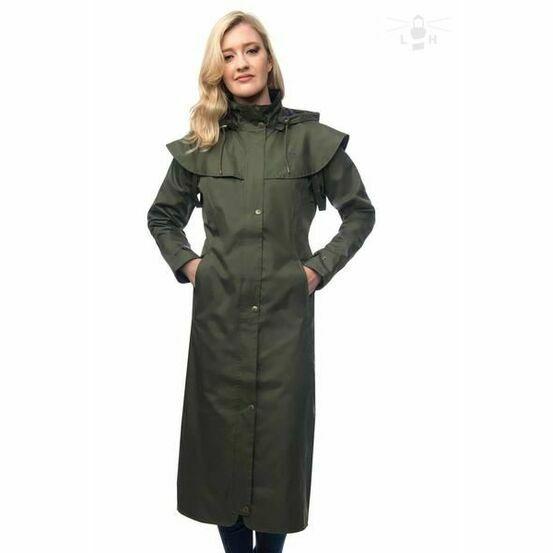 Target Dry Lighthouse Outback 2 Womens Full Length Rain Coat - Fern Green