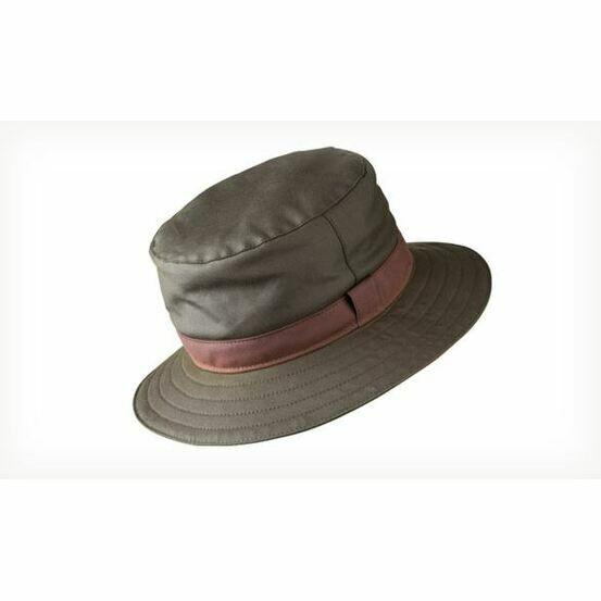 Olney Olive (BROWN TRIM)Wax Spey Hat