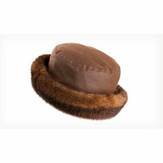 Olney BETH BROWN Wax & Fur Hat