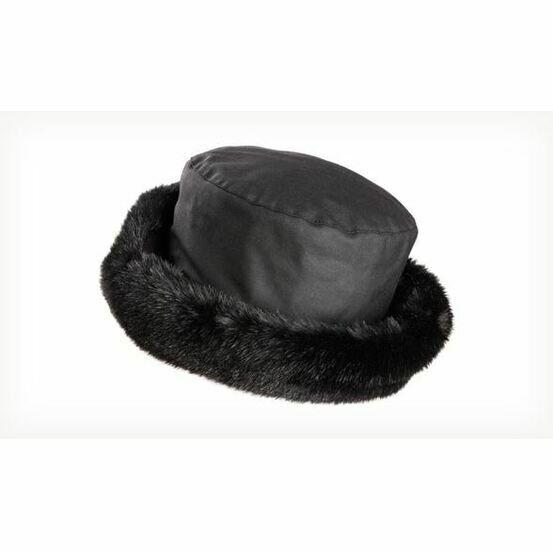 Olney BETH BLACK Wax & Fur Hat