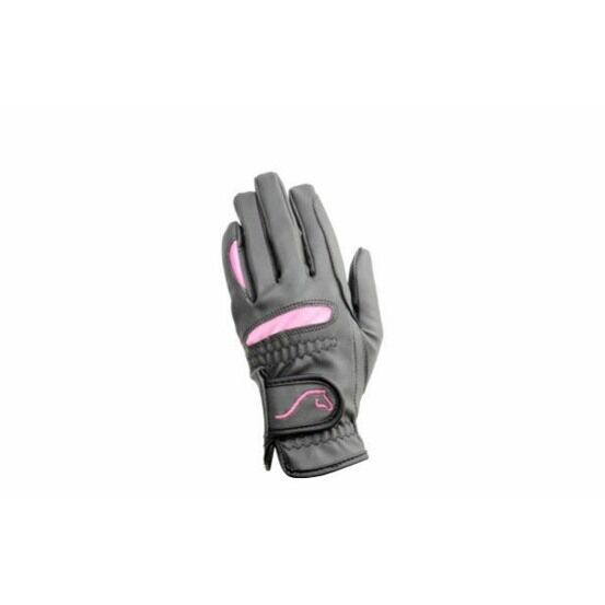 Hy5 Lightweight Riding Gloves - Black/Pink