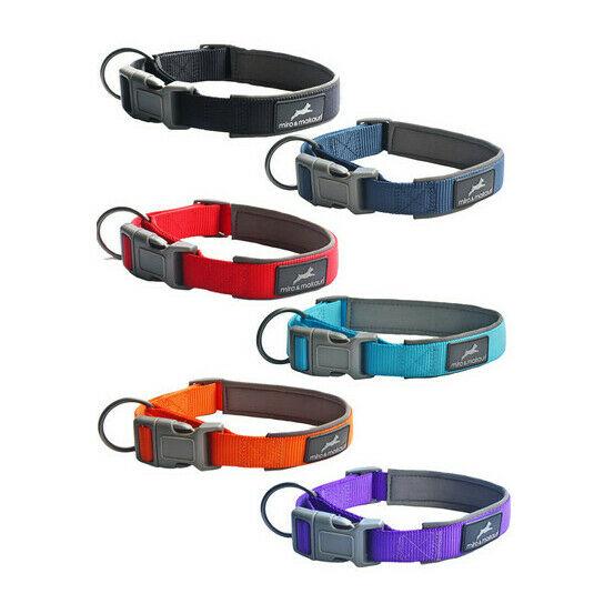 Miro & Makauri Padded Nylon Dog Collars (15mm 30-35cm)