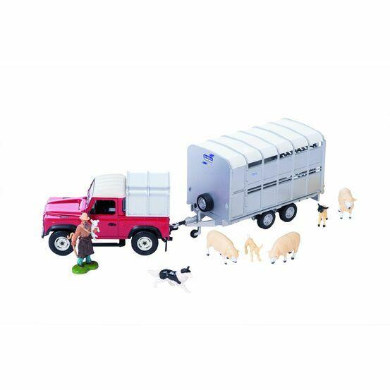 Britains Land Rover & Livestock Trailer Set