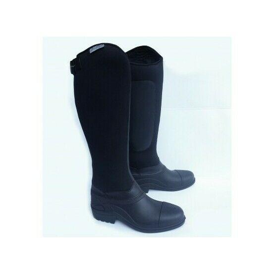 Gallop Everest Neoprene Long Riding Boots - Black