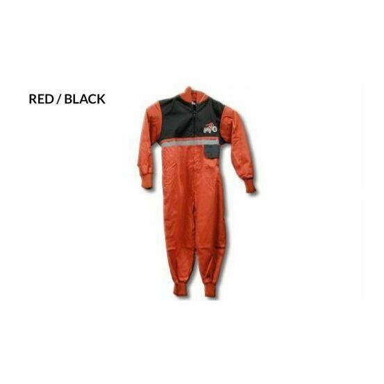 GDT Hi Viz Boiler Suit - Red/Black