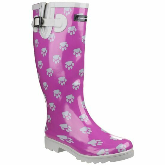 Cotswold Dog Paw Ladies Wellington Boots