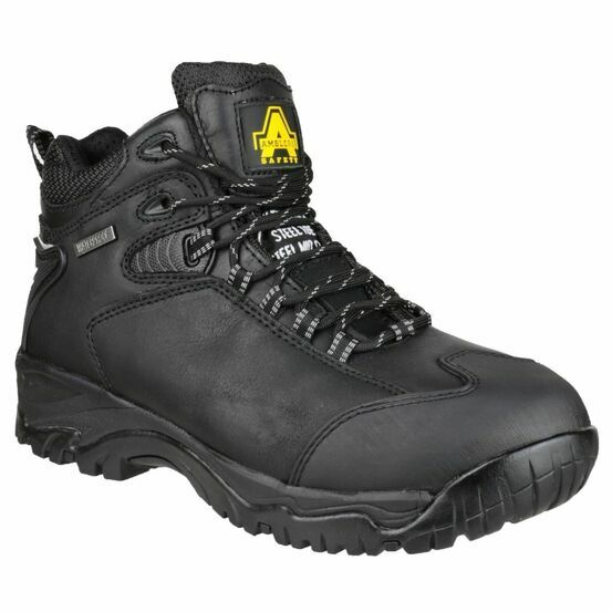 Amblers Safety FS190N Waterproof Lace up Hike Boots (Black)