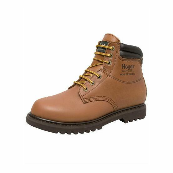 Hoggs of Fife Atlas Waterproof Leather Work Boots - Tan