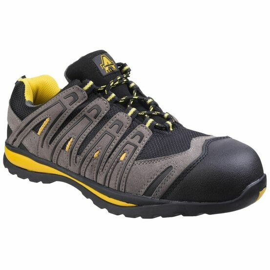 Amblers Safety FS42C Metal Free Lace Up Safety Trainers (Black)