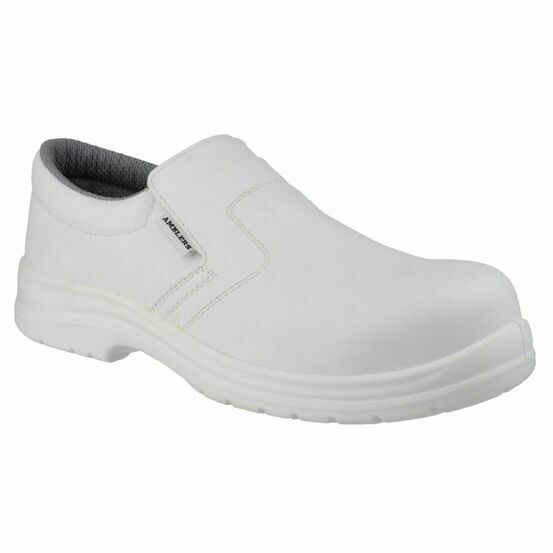 Amblers Safety FS510 Metal-Free Water-Resistant Shoes (White)