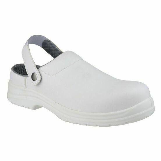 Amblers Safety FS512 Antistatic Slip on Safety Shoes (White)