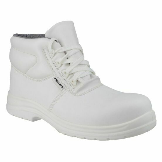 Amblers Safety FS513 Metal-Free Water-Resistant Shoes (White)