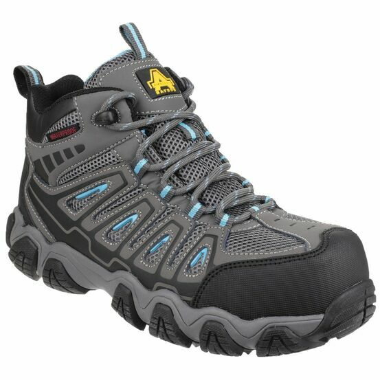 Amblers Safety AS802 Waterproof Non-Metal Ladies Boots (Grey)