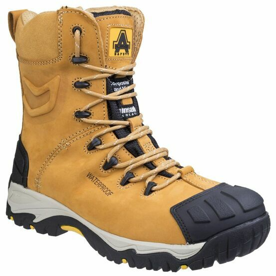 Amblers Safety FS998 Waterproof Lace up Safety Boots (Honey)