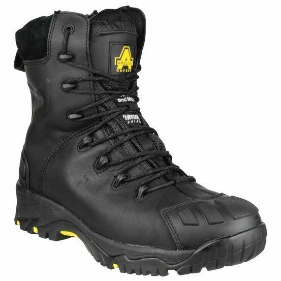Amblers Safety FS999 Hi Leg Composite Leather Safety Boots (Black)