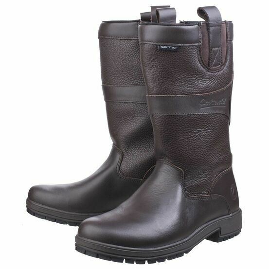 Cotswold Women's Ascot Waterproof Pull On Wellington Boots (Brown)