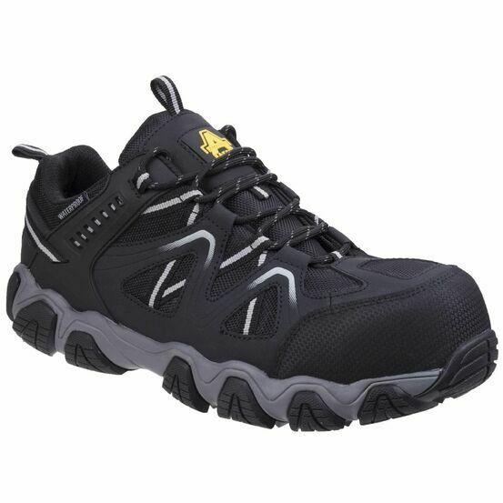 Amblers Safety AS712 Oakham Lace Up Safety Shoes (Black/Grey)