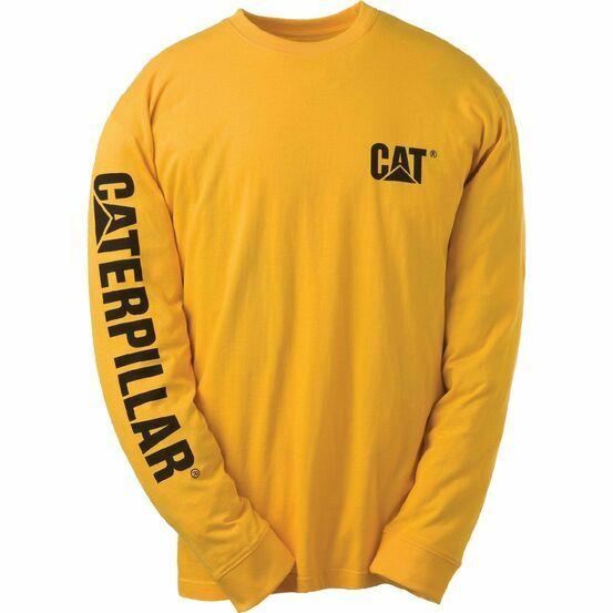 Caterpillar Trademark Banner T-Shirt - Yellow