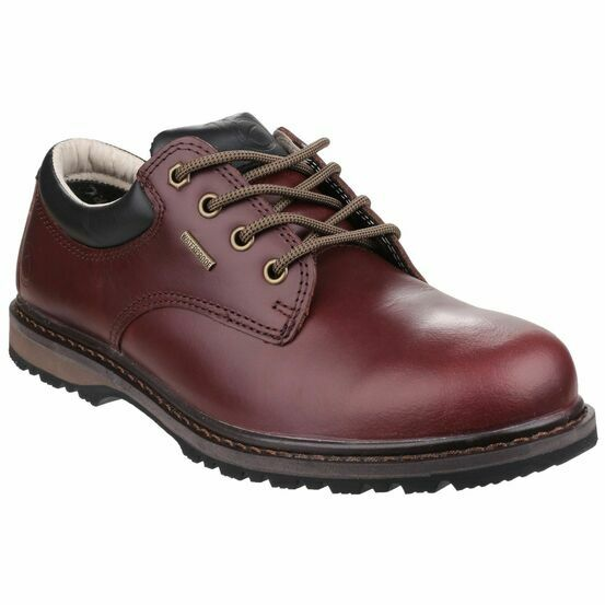 Cotswold Stonesfield Leather Hiking Shoes - Chestnut Brown