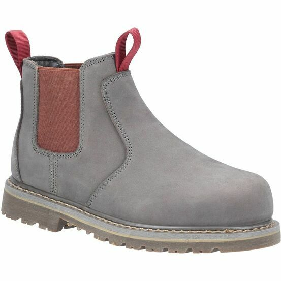 Amblers Safety AS106 Sarah Slip-On Steel Toe Safety Boot in Grey