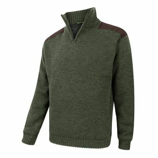 Hoggs of Fife Hebrides Zip Neck Windproof Pullover - Green