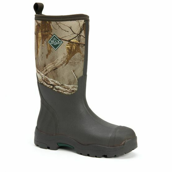 Muck Boots Derwent II Short Wellington Boots in Black/Bark