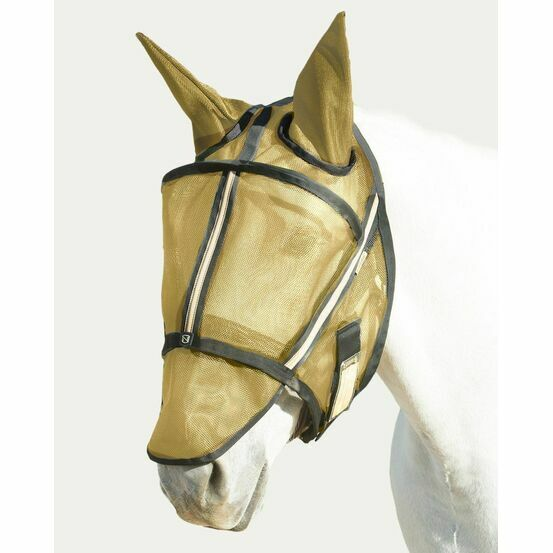 Noble Outfitters Guardsman Fly Mask With Ears - Noble Gold