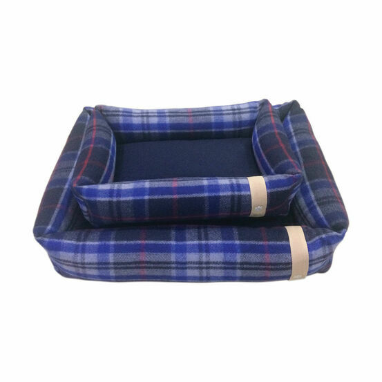 Companion Country Snuggle Dog Bed - Navy Check