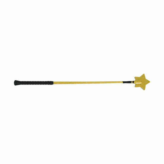 HySCHOOL Gold Star Riding Whip - Gold - 65cm
