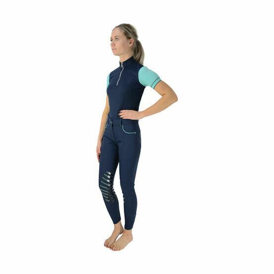HyFASHION Mizs Beatrice Sports Shirt - Navy/Peppermint Green
