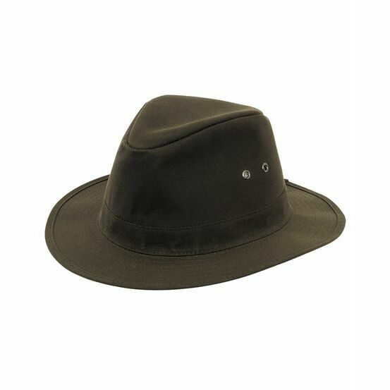Hoggs Caledonia Waxed Hat - Antique Olive