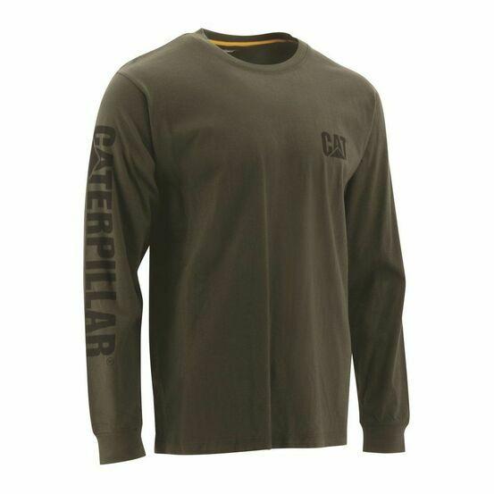 Caterpillar Trademark Banner Long Sleeve T-Shirt - Chive