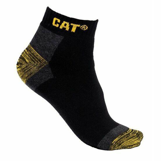 Caterpillar Premium Work Trainer Socks 3 Pair Pack in Black