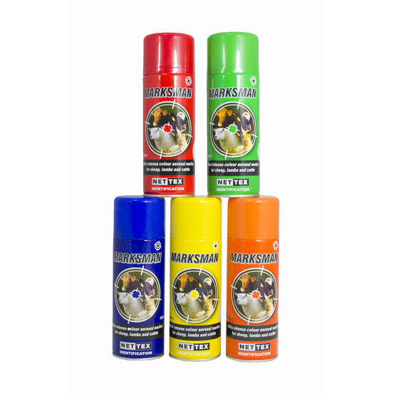Nettex Marksman Marking Aerosol For Sheep & Lambs - Various Colours 400ml