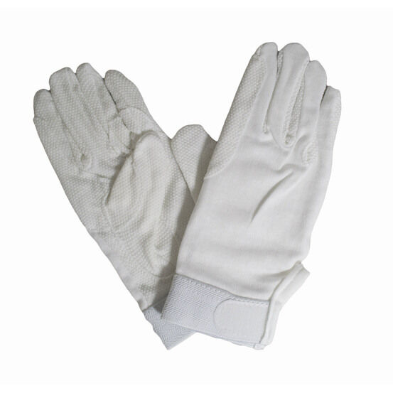 Hy5 Cotton Pimple Palm Riding Gloves - White