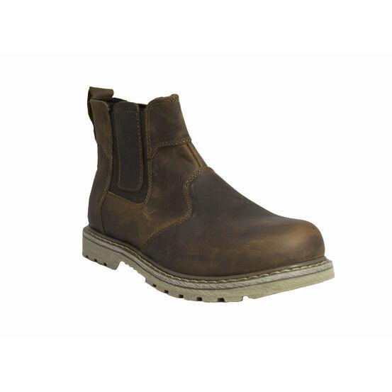 Amblers Men Abingdon Dealer Pull-On Leather Boots - Brown