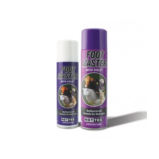 Nettex Footmaster Antibacterial Foot Care Spray with Violet - 500ml