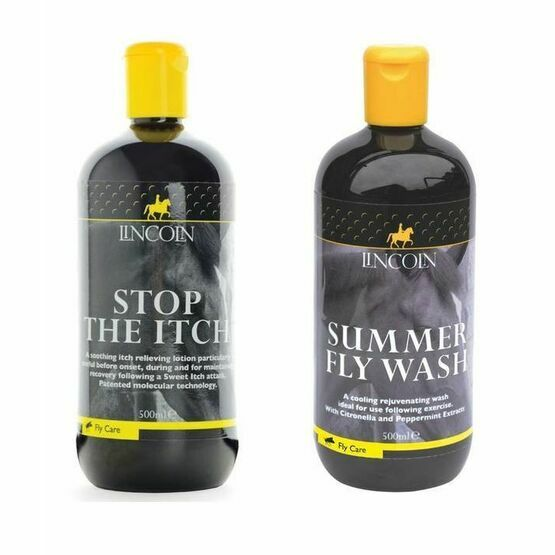 Lincoln Stop The Itch 500ml & Summer Fly Wash 500ml - 2 Pack