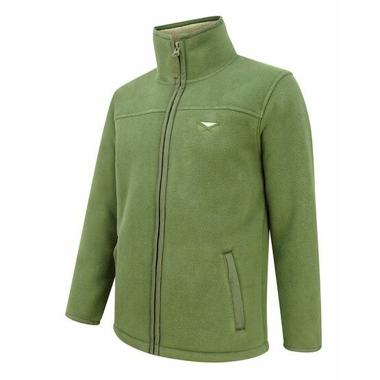 Hoggs Of Fife Clydesdale Heavy Fleece Jacket - Kaki (Green)