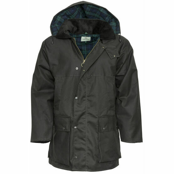 Hoggs Of Fife Padded Waxed Jacket - Brown