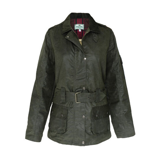 Hoggs Of Fife Cheltenham Ladies Belted Waxed Jacket