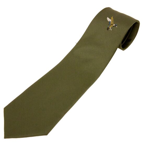 Bisley No.5 Single Duck Motif Tie - Green