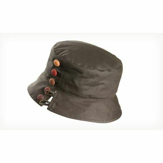 Olney OLIVIA OLIVE/RUSSETT Wax Split brim & buttons Hat