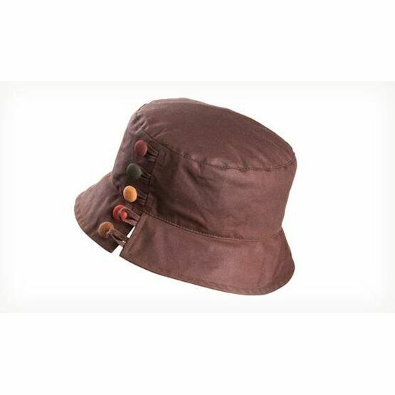 Olney OLIVIA BROWN/CHESTNUT Wax Split brim & buttons hat